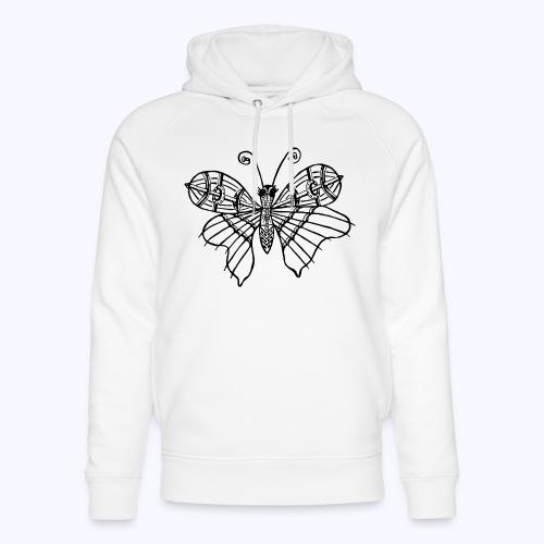 Schmetterling schwarz - Unisex Bio-Hoodie von Stanley & Stella