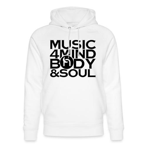Music 4 Mind, Body & Soul Black - Unisex Organic Hoodie by Stanley & Stella
