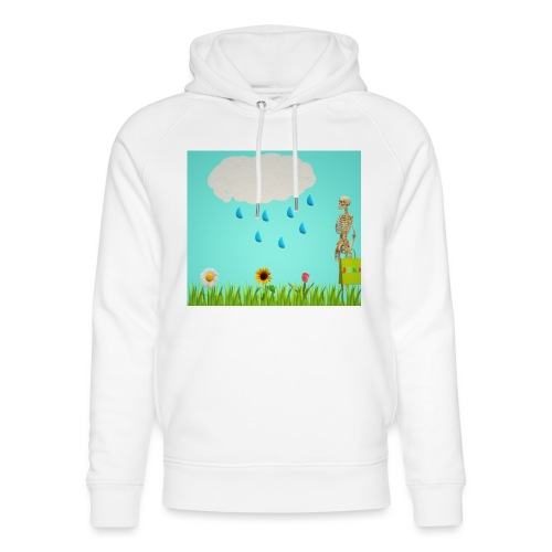 Flowers and clouds - Unisex Organic Hoodie by Stanley & Stella