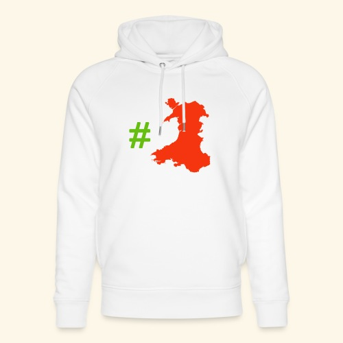 Hashtag Wales - Unisex Organic Hoodie by Stanley & Stella