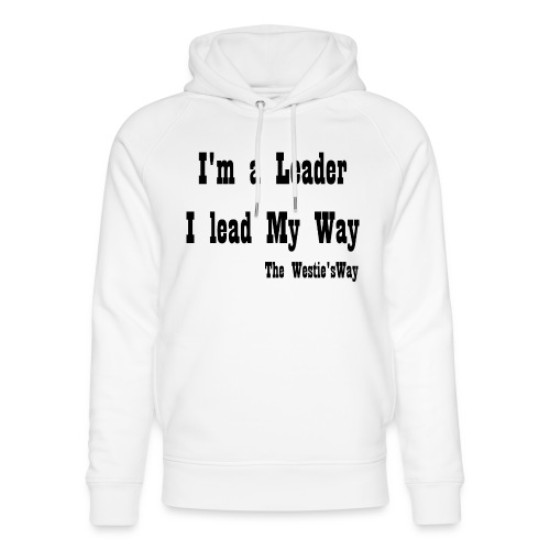 I lead My Way Black - Ekologiczna bluza z kapturem typu unisex Stanley & Stella