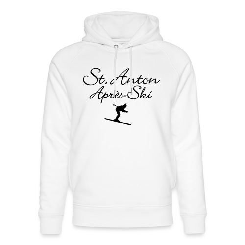 St. Anton Après-Ski Skifahrer - Unisex Bio-Hoodie von Stanley & Stella