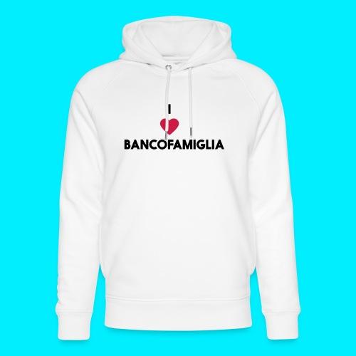 BANCOFAMIGLIA CuoreNera - Felpa con cappuccio ecologica unisex di Stanley & Stella