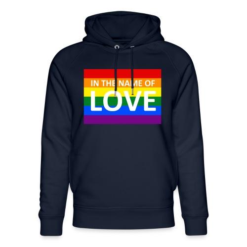 IN THE NAME OF LOVE - Stanley & Stella unisex hoodie af økologisk bomuld