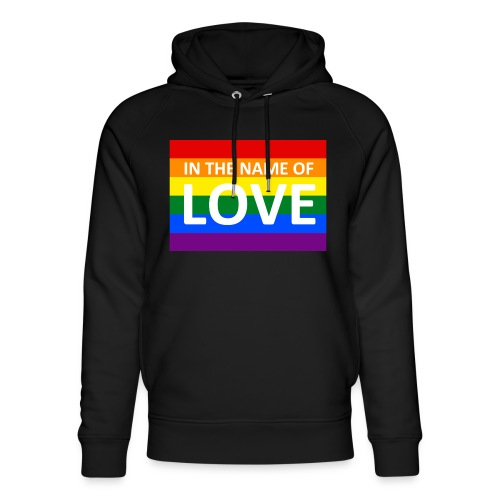 IN THE NAME OF LOVE RETRO T-SHIRT - Stanley & Stella unisex hoodie af økologisk bomuld