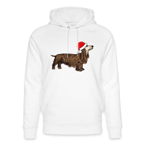 Christmas dachshund - Unisex Organic Hoodie by Stanley & Stella