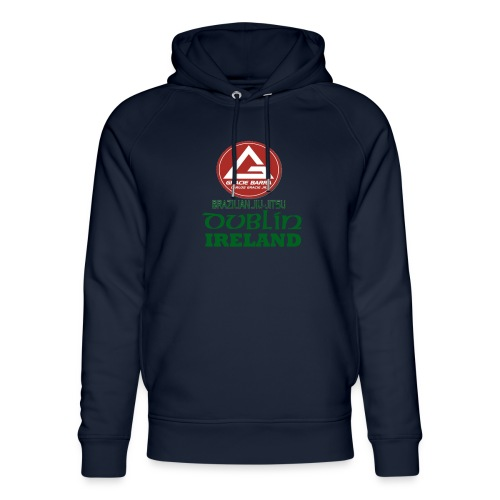 Gracie Barra Dublin Gaelic Celtic Font PNG - Unisex Organic Hoodie by Stanley & Stella