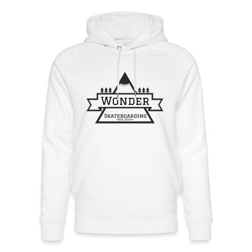 Wonder hoodie no hat - Mountain logo - Stanley & Stella unisex hoodie af økologisk bomuld