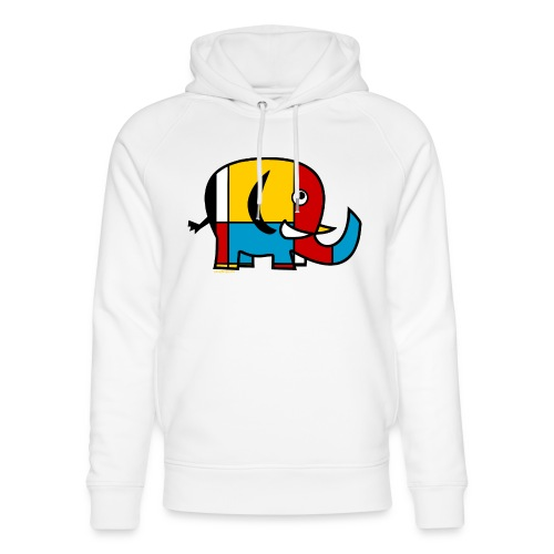 Mondrian Elephant - Unisex Organic Hoodie by Stanley & Stella