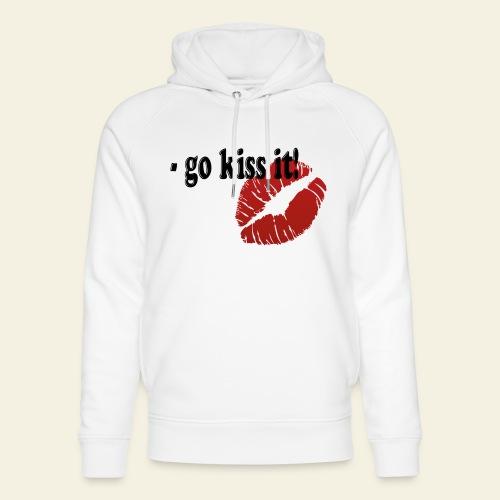 go kiss it - Stanley & Stella unisex hoodie af økologisk bomuld
