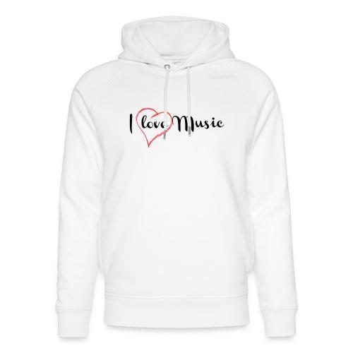 I Love Music - Felpa con cappuccio ecologica unisex di Stanley & Stella