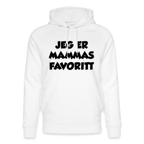 «Jeg er mammas favoritt» (fra Det norske plagg) - Unisex økologisk hettegenser fra Stanley & Stella