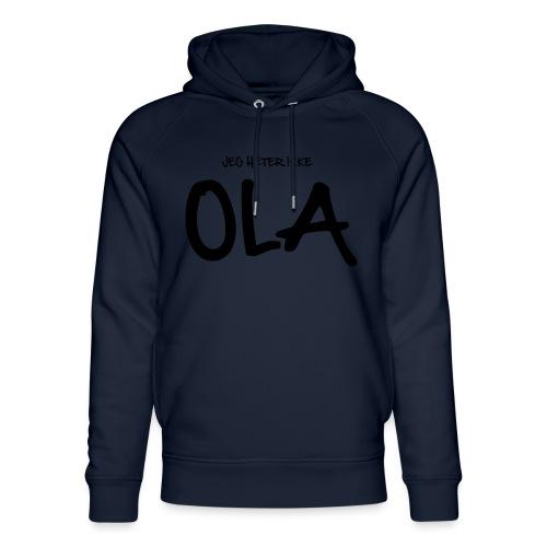 Jeg heter ikke Ola (fra Det norske plagg) - Unisex økologisk hettegenser fra Stanley & Stella
