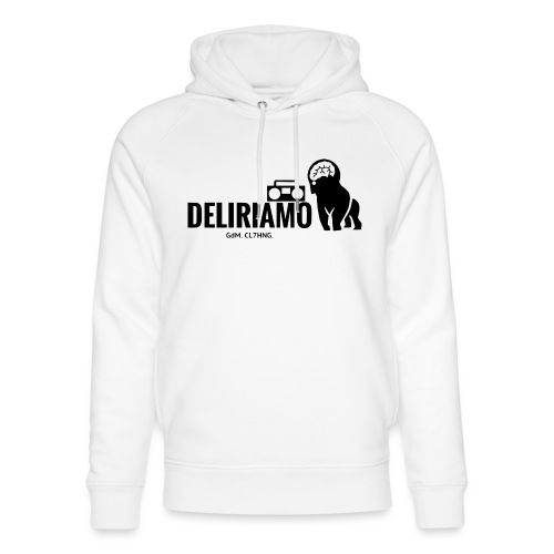 DELIRIAMO CLOTHING (GdM01) - Felpa con cappuccio ecologica unisex di Stanley & Stella