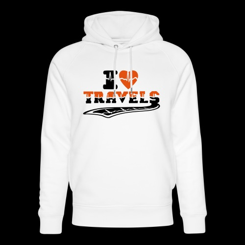 i love travels surprises 2 col - Unisex Organic Hoodie by Stanley & Stella