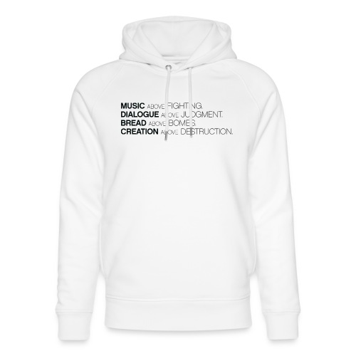 slogan png - Uniseks bio-hoodie van Stanley & Stella