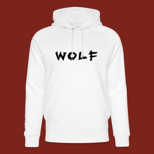 Wolf Font png - Uniseks bio-hoodie van Stanley & Stella