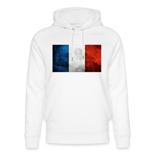 France Flag - Unisex Organic Hoodie by Stanley & Stella