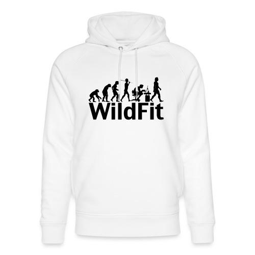 WildFit Logo Evolution in Schwarz - Unisex Bio-Hoodie von Stanley & Stella