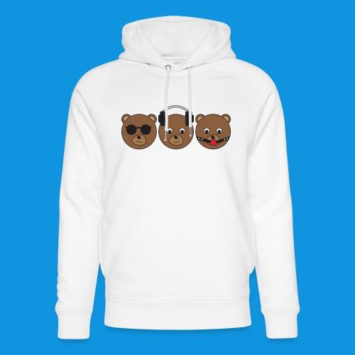 3 Wise Bears - Unisex Organic Hoodie by Stanley & Stella