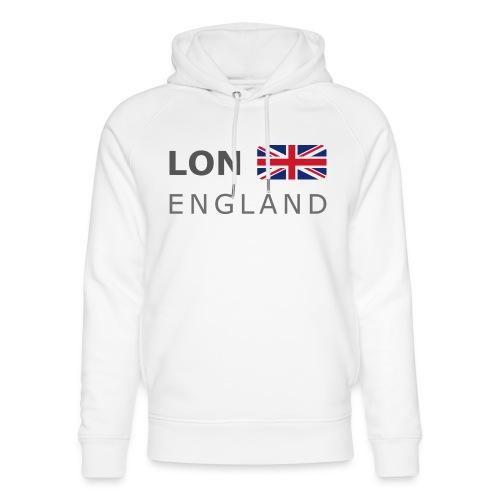 LON ENGLAND BF dark-lettered 400 dpi - Unisex Organic Hoodie by Stanley & Stella