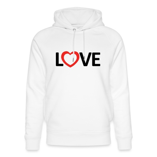 Love - Sudadera con capucha ecológica unisex de Stanley & Stella