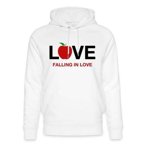 Falling in Love - Black - Unisex Organic Hoodie by Stanley & Stella