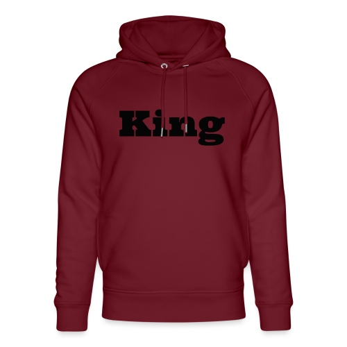 Snapback king rood/zwart - Uniseks bio-hoodie van Stanley & Stella
