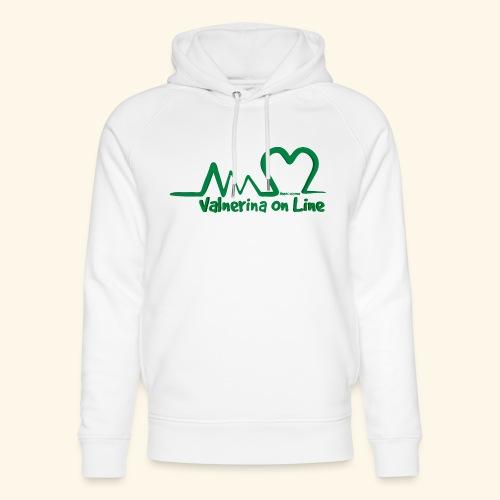 logo verde Associazione Valnerina On line - Felpa con cappuccio ecologica unisex di Stanley & Stella