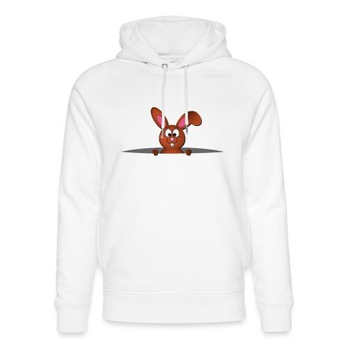 Cute bunny in the pocket - Felpa con cappuccio ecologica unisex di Stanley & Stella