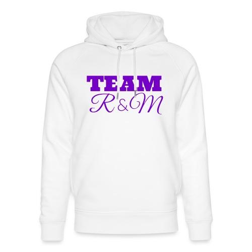 Team R N M Hoodie Purple, M - Unisex Organic Hoodie by Stanley & Stella