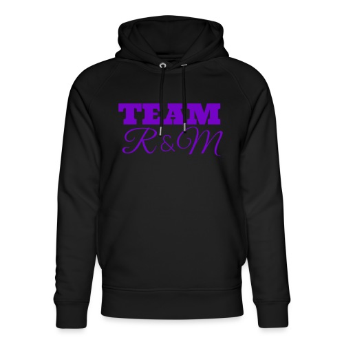 Team R N M Hoodie Purple, W - Unisex Organic Hoodie by Stanley & Stella