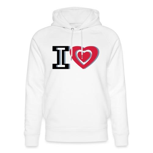 I LOVE I HEART - Unisex Organic Hoodie by Stanley & Stella