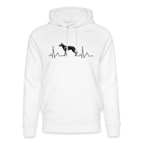 ECG met hond - Uniseks bio-hoodie van Stanley & Stella