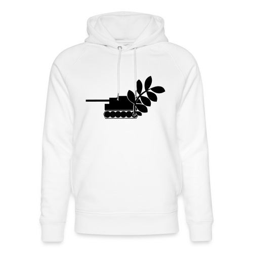 Global Campaign on Military Spending - Logo gray - Unisex Organic Hoodie by Stanley & Stella