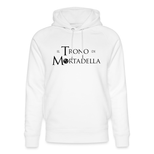 Grembiule Il Trono di Mortadella - Felpa con cappuccio ecologica unisex di Stanley & Stella