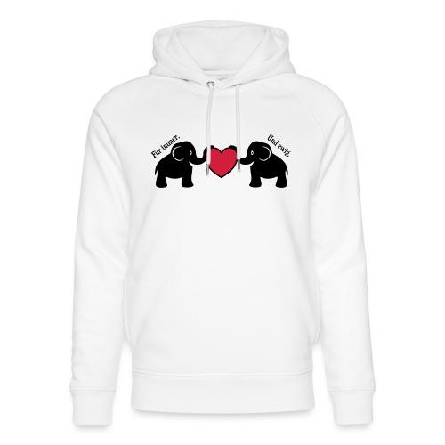Elefanten Liebe Herz Immer Ewig Verliebt - Unisex Bio-Hoodie von Stanley & Stella