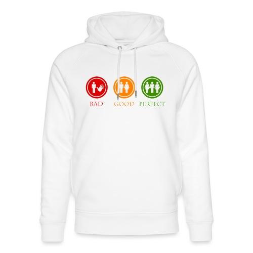 Bad good perfect - Threesome (adult humor) - Uniseks bio-hoodie van Stanley & Stella