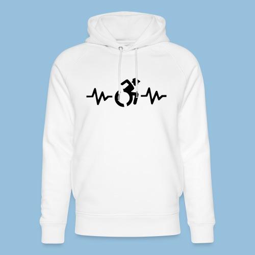 Wheelchairheartbeat1 - Uniseks bio-hoodie van Stanley & Stella