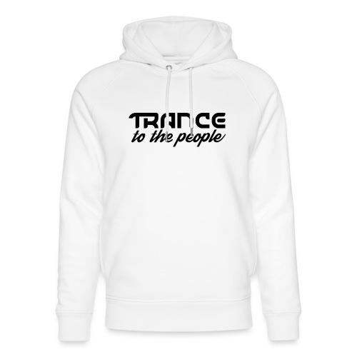 Trance to the People Sort Logo - Stanley & Stella unisex hoodie af økologisk bomuld