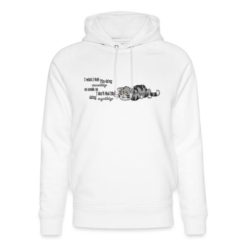 I Wish I Felt Like... (Horizontal) - Ekologiczna bluza z kapturem typu unisex Stanley & Stella