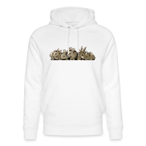 Lapins gris - Sweat à capuche bio Stanley & Stella unisexe