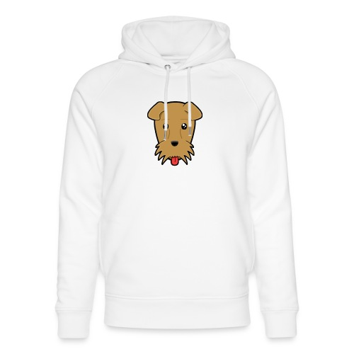 Shari the Airedale Terrier - Unisex Organic Hoodie by Stanley & Stella