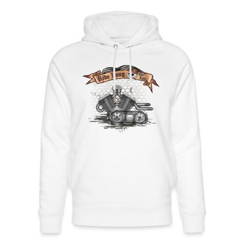 Biker T-shirt mit V Motor & Totenkopf - Unisex Bio-Hoodie von Stanley & Stella