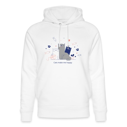 Cats make me happy - Unisex Bio-Hoodie von Stanley & Stella