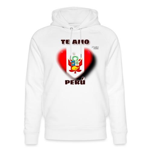 Te Amo Peru Corazon - Sudadera con capucha ecológica unisex de Stanley & Stella