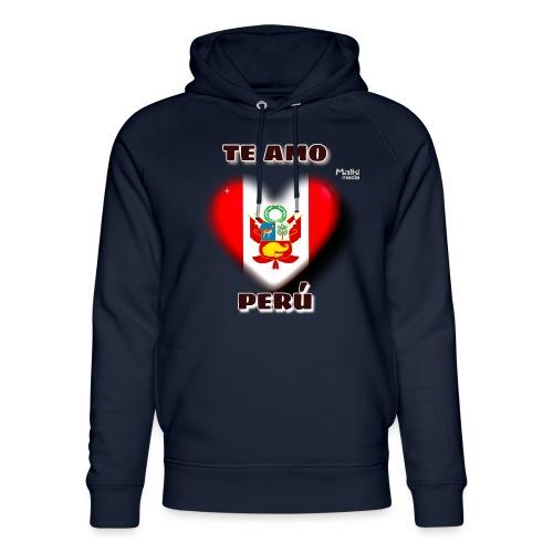 Te Amo Peru Corazon - Unisex Organic Hoodie by Stanley & Stella