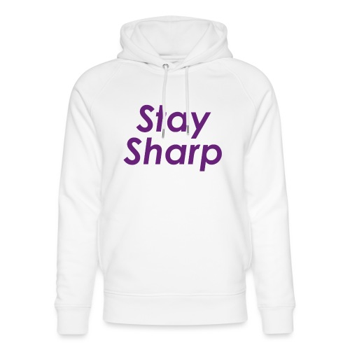 Stay Sharp - Felpa con cappuccio ecologica unisex di Stanley & Stella