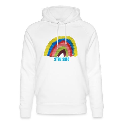 Stay Safe Rainbow Tshirt - Unisex Organic Hoodie by Stanley & Stella