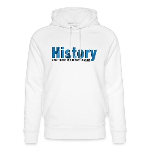 Blue Repeat History - Unisex Organic Hoodie by Stanley & Stella